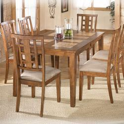 Tucker Tile Top Extension Dining Table By Signature Design