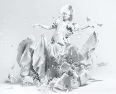 Martin Klimas - The shutter is triggered by the sound of the falling ceramic to get this beautifully sharp image. Wow.