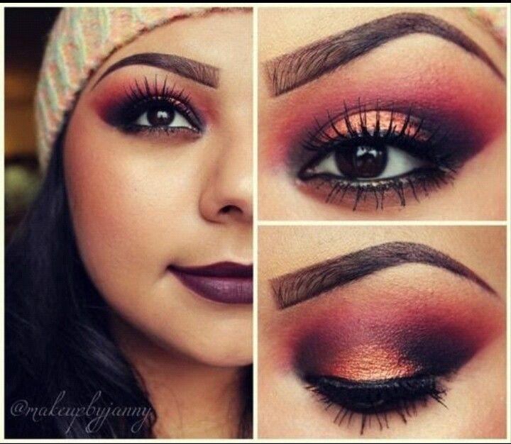 Fall inspired makeup look Makeup Ideas Pinterest ...