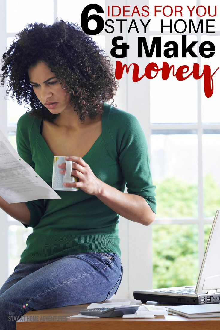 You want to stay at home and make money, you can! I did it and with determination and these 6 ideas you can stay at home and make money today!
