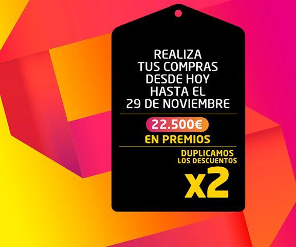¡PromoFans ya te duplica los descuentos! Realiza tus compras del 24 al 29 de Noviembre y tráenos tus tickets. Hay 22.500€ en premios http://goo.gl/M3oyFD