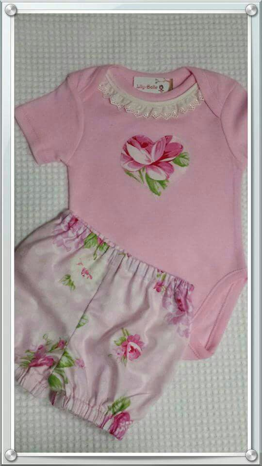 Pink Roses size 00 bloomers set Available for purchase now $25 SALE