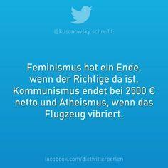 Feminismus, Kommunismus und Atheismus :)