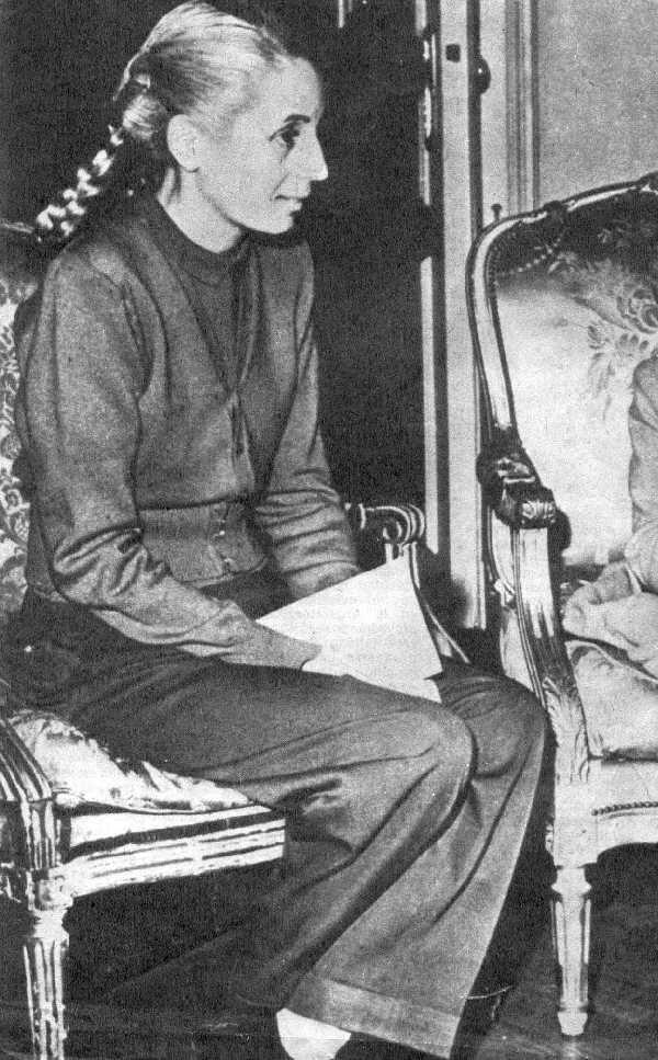Imagen de Eva Perón al final de su vida