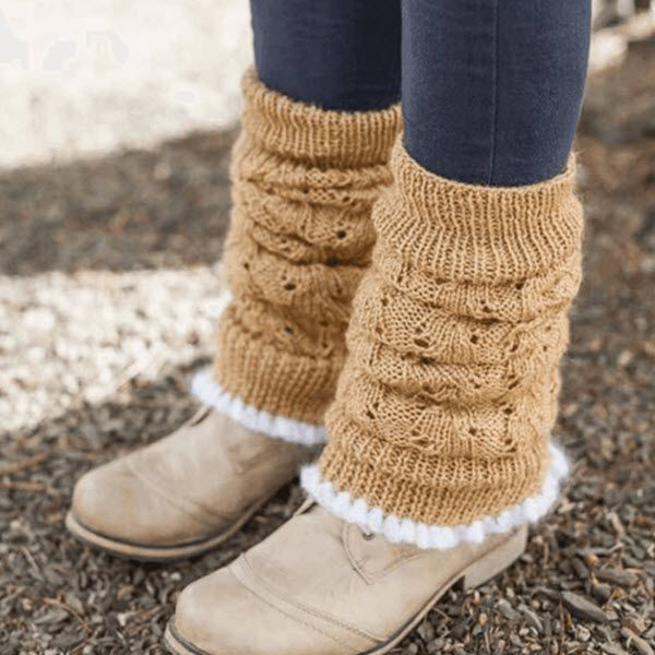 Free Knitting Patterns Leg Warmer Socks : 17 Best images about Calceta Calcetins e calzado on Pinterest Free patter...