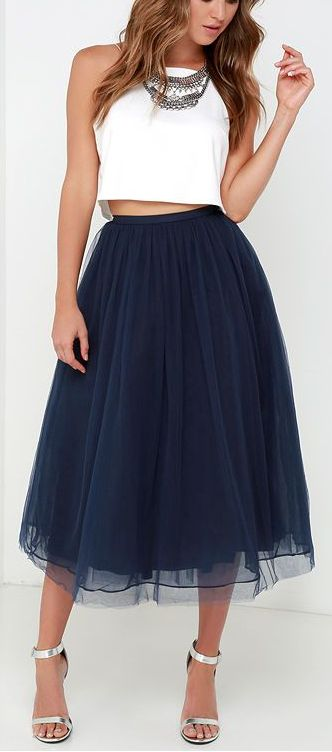 navy tulle skirt