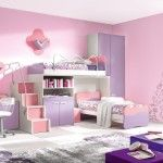 Bedroom,Playroom Spacious Pink And Lavender Teenage Girl Bedroom Design With Bunk Bed And Movable Chair And Purple Cupboard And Storage Unit Beautiful Teenage Girls Bedroom Ideas For 2015 Pics Of Teenager,Lovely And Colorful Teenage Girl Bedroom