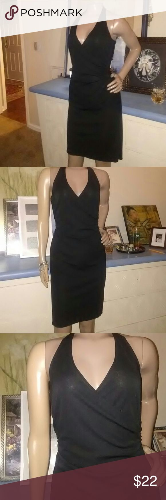 Ni lovely black Halter Dress by Perseption.  Doesnt have a size tag...looks like it could fit a small to medium...100 Polyester...Stretchy fitted to body. made in the USA🇺🇸 Very good condition Great for nice dining, wedding, party, lounge etc.    If you have more questions, please ask...  Please...No lowball offers. I would appreciate it. Ty PS Dresses Backless
