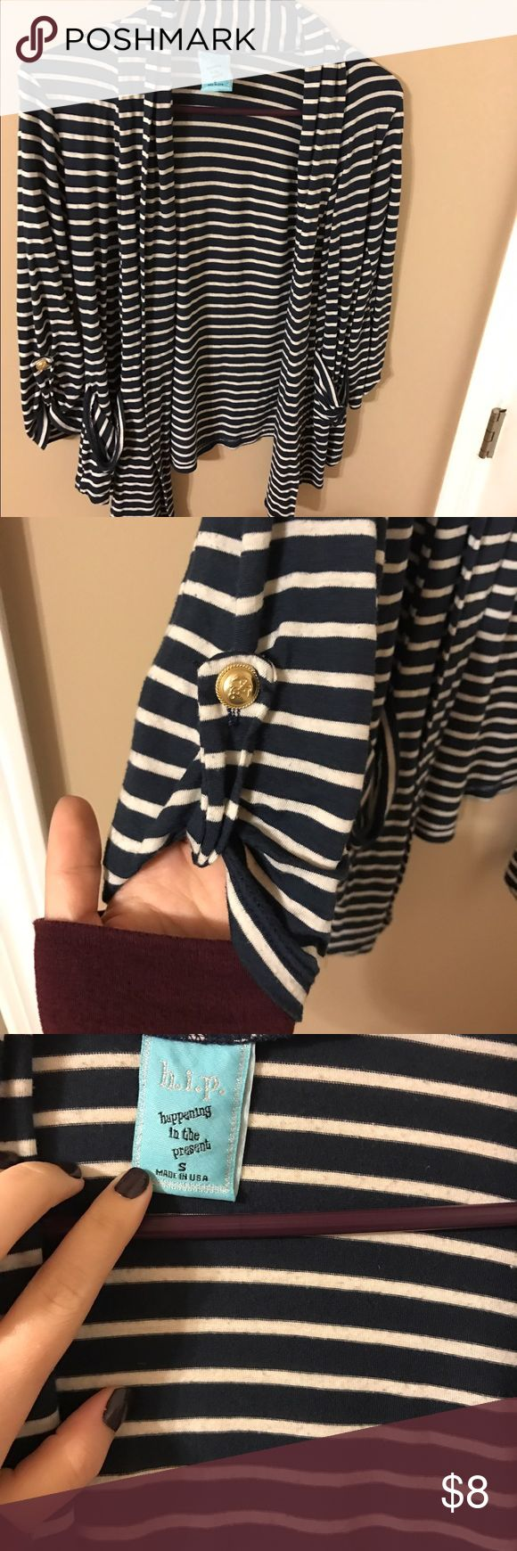 Nautical Cardigan Really cute with a white tee underneath. Worn a few times. Tops