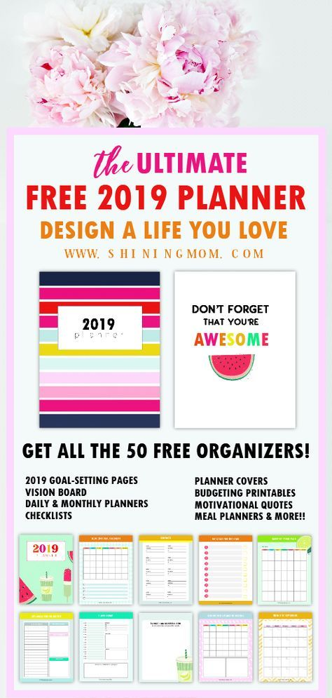 The Ultimate Free Planner 2019 Design A Life You Love Bullet