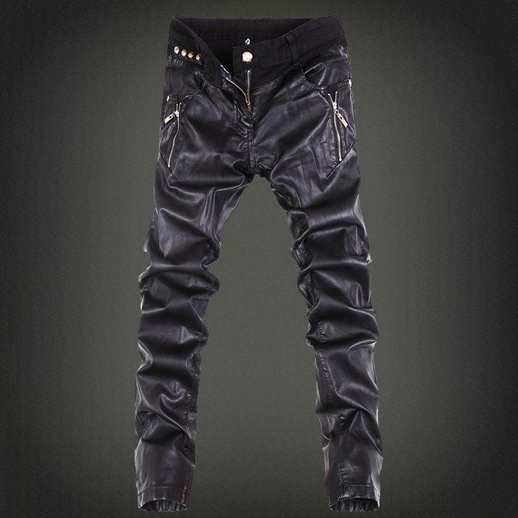 33.65$  Buy now - https://alitems.com/g/1e8d114494b01f4c715516525dc3e8/?i=5&ulp=https%3A%2F%2Fwww.aliexpress.com%2Fitem%2F2015-mens-skinny-jean-overalls-motorcycle-jeans-men-pu-leather-jeans-pants-denim-jeans-pants-leather%2F32512956789.html - 2016 mens skinny jean overalls motorcycle jeans men pu leather jeans pants denim jeans pants leather joggers small size 28-36 33.65$