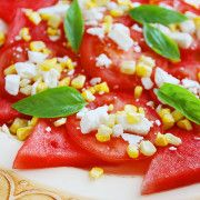 The Comfort of Cooking » Watermelon Basil Salad with Feta & Corn