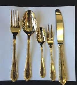 ... BSB Bestecke Solingen 23/24Kt. Gold Plated Flatware Set W/case & Key