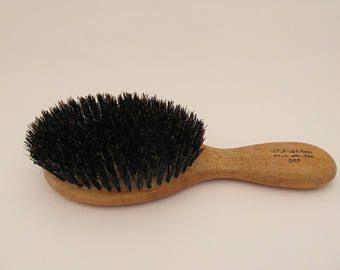awesome vintage ladies hairbrush real bristle wooden brush