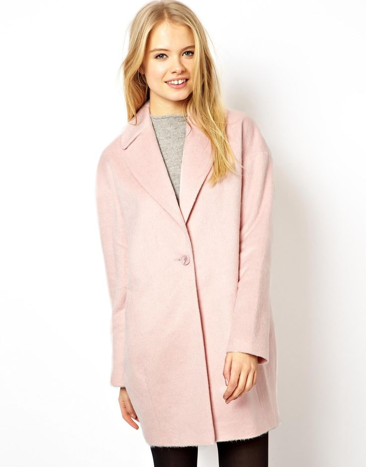 A cocoon-shape coat in a pastel colour is so this season. Business Casuals can polish this up with how you do your hair and make up - pair with a classic work heel. Smart Casuals can style it up or down! ASOS Fluffy Cocoon Coat