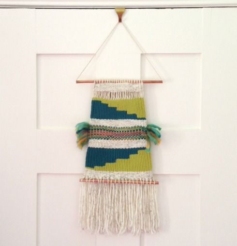 DIY wall hanging and weaving tutorial