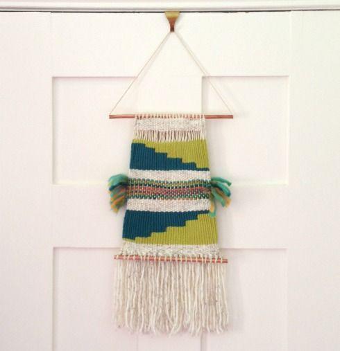 DIY wall hanging and weaving tutorial