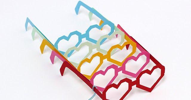 Creare con la carta ♥: Occhiali di carta 3D a forma di cuore