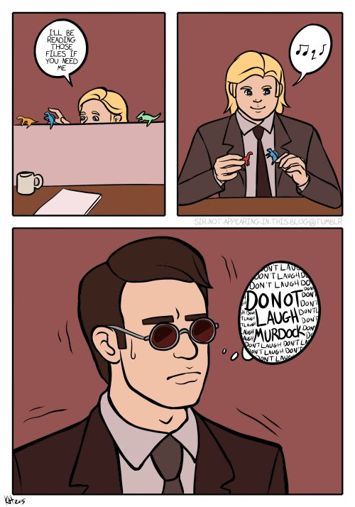 the hardest part about keeping his abilities secret from foggy back in their intern days
