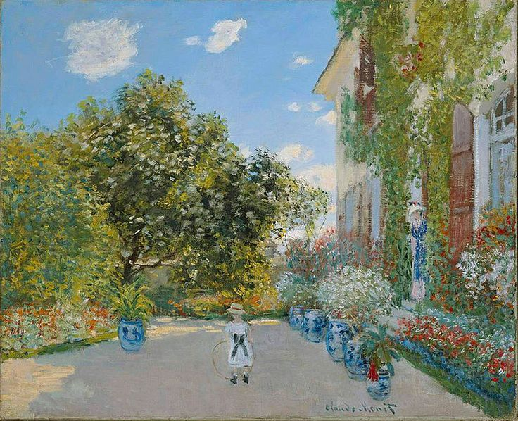 The Artist's House at Argenteuil by Claude MonetThe Artists, Claude Monet, Art Institution, Artists House, Claudemonet, 1873, Argenteuil, Oil Painting, Claude Oscars