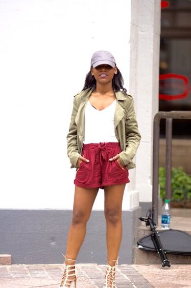 Maroon Shorts + Caged Sandals http://www.marjanialadin.com/maroon-shorts-caged-sandals/
