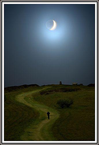Moonlight walk #Ireland