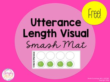 Smash mats have been so motivating for my students to help them reach their goals. I have been working with a particular student on expanding utterances, so I created a smash mat activity to motivate her!To use:Print and laminate the strips. Included are strips for 2,3,4, and 5 word utterances.