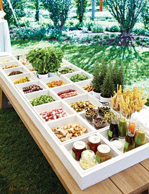 Boxed Food Station - looks like a huge bento box!