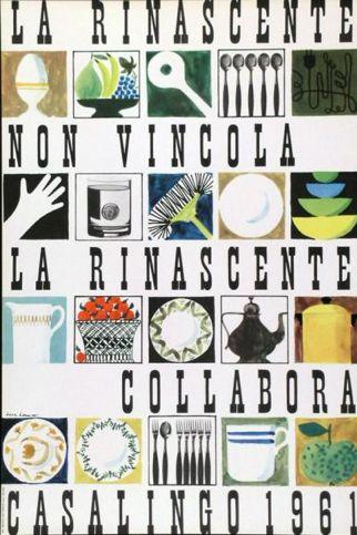 By Lora Lamm (born 1928), 1961, La Rinascente non vincola, collabora, Casalingo. (I)