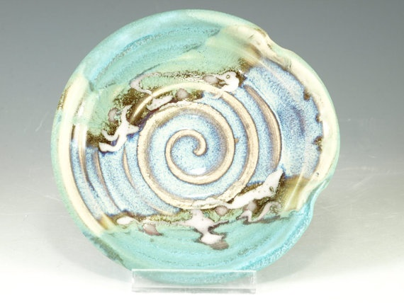 Spoon rest  wheel thrown pottery by Hodakapottery on Etsy, $10.00