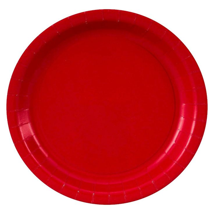 Classic Red Paper Dessert Plates - 24 count