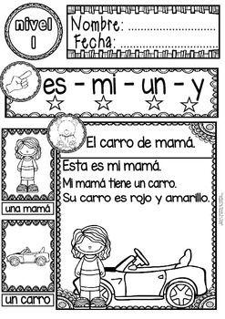 SPANISH READING - GUIDED READING PASSAGES - LEVEL 1 FREE - TeachersPayTeachers.com