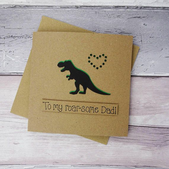 Funny Dinosaur Birthday Card Handmade T Rex For