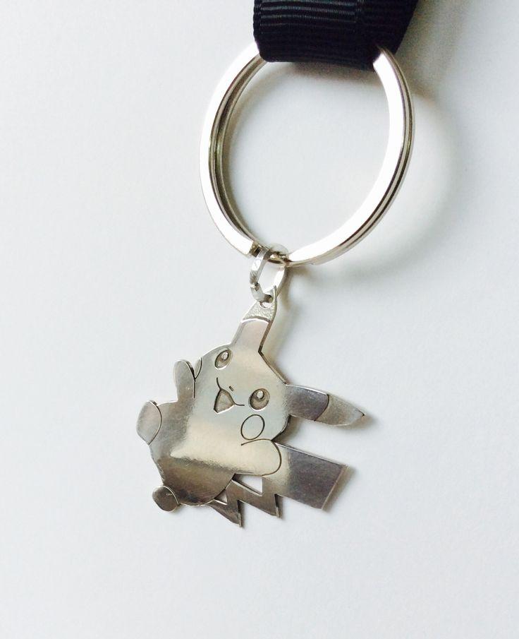 Foxy- silver keyring