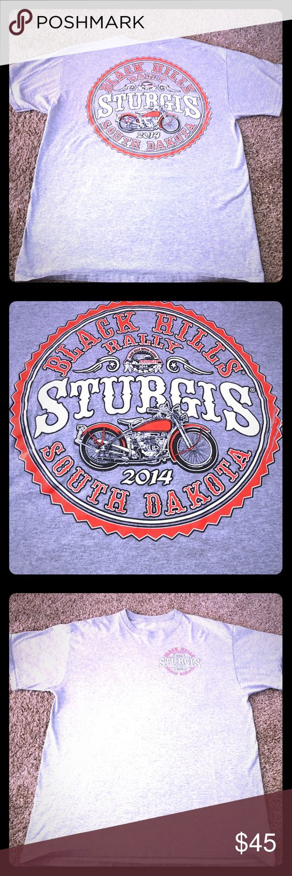 LIMITED EDITION 2014 Sturgis Black Hills Tee Limited Edition 2014 Black Hills Rally Sturgis Tee from South Dakota. This Harley Davidson Rally Tee was never worn and is a size XL in men's. It is in excellent condition. Harley-Davidson Shirts Tees - Short Sleeve