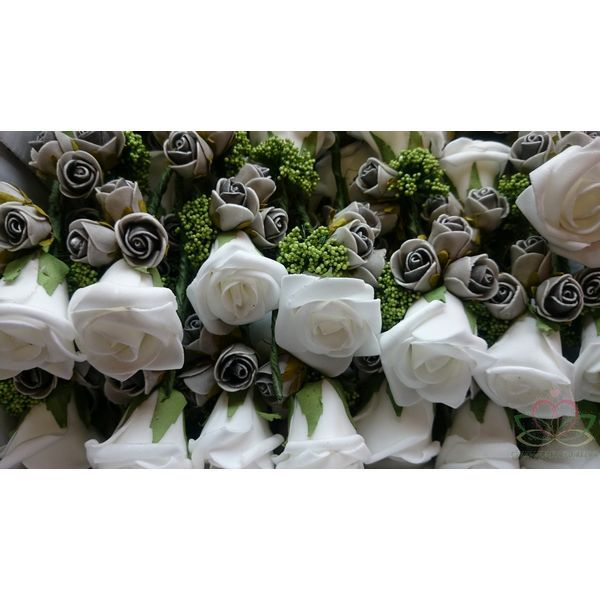 Corsage Roos Wit-creme-groen CPR133