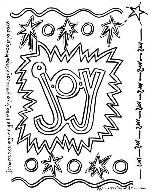 joy coloring pages-#19