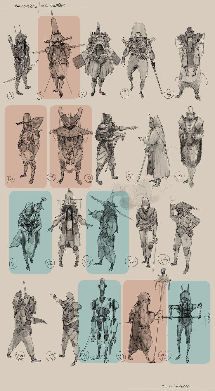 Tano Bonfanti Character Design vol : 3 on Behance