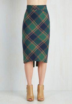 Scholar ID Skirt in Green