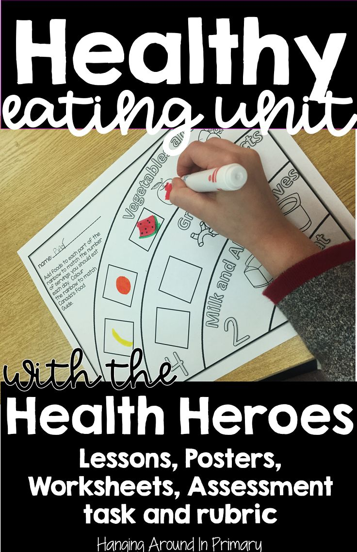 Teach your healthy eating unit with the Health Heroes.  This resource for grade 1 and grade 2 has everything you need to cover the healthy eating curriculum:  detailed lesson plans, worksheets, posters, food cards, assessment task and a rubric.  #healthyeatingunit #lessonplans #rubric #nutritionunit #grade1 #grade2 #grade1/2 #firstgrade #secondgrade