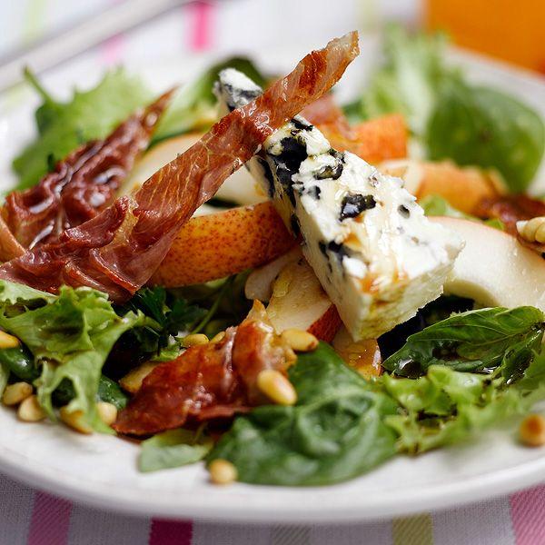 WeightWatchers.fr : recette Weight Watchers - Salade à la poire et au roquefort