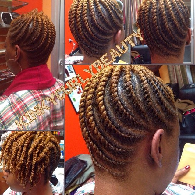Such Neat Flat Twists @kinkycurlybeauty - http://community.blackhairinformation.com/hairstyle-gallery/updos/neat-flat-twists-kinkycurlybeauty/ #protectivestyling #updo #flattwists