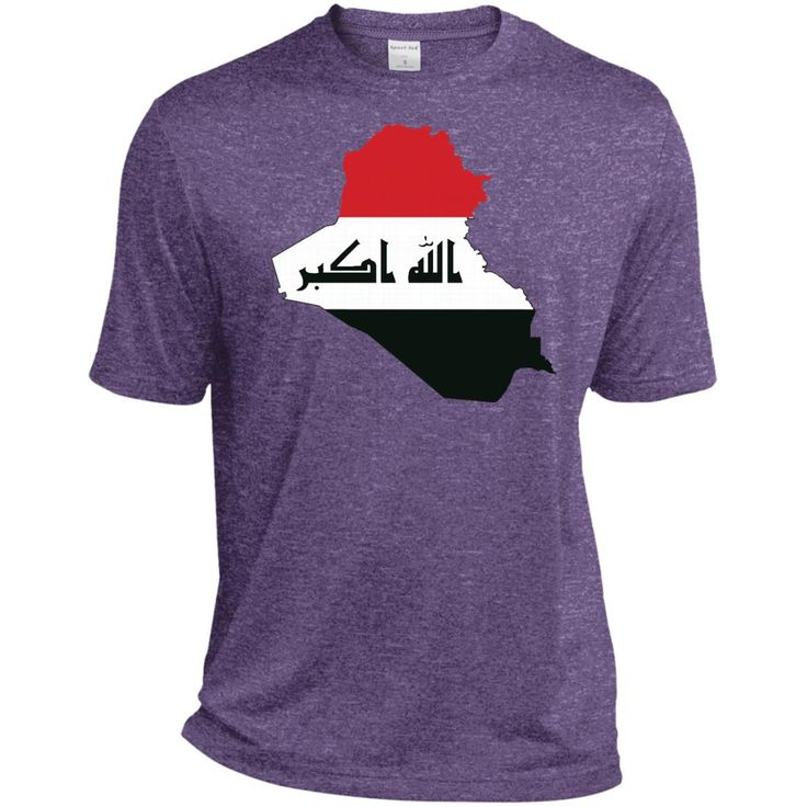 iraq flag-01 TST360 Sport-Tek Tall Heather Dri-Fit Moisture-Wicking T-Shirt