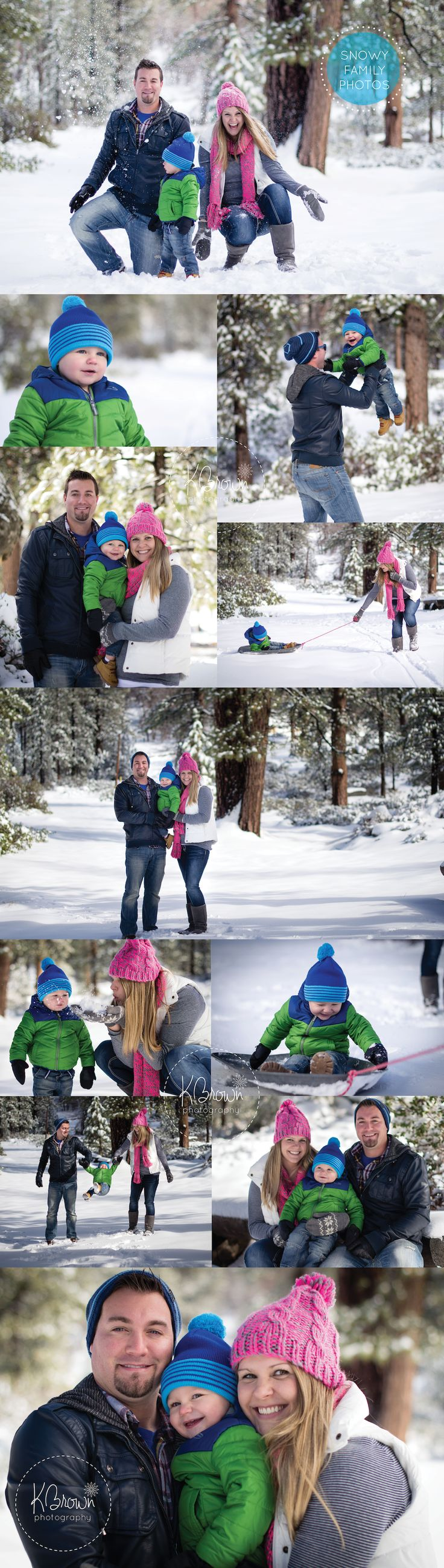 Snowy Family Photos - KBrown Photography | Christmas card photos | Snow family photos | #Photography