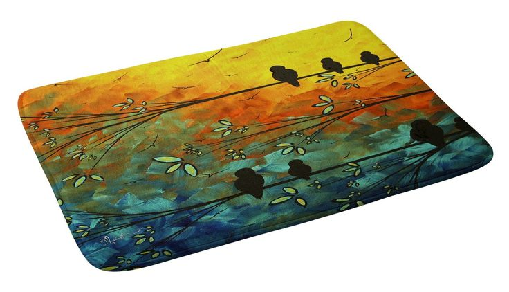 Birds Of A Feather Bath Rug Bath Rugs Feathers And Bird