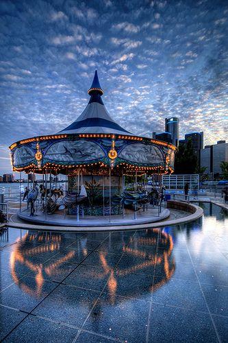 Carousel on Detroit Riverwalk, Detroit, MI