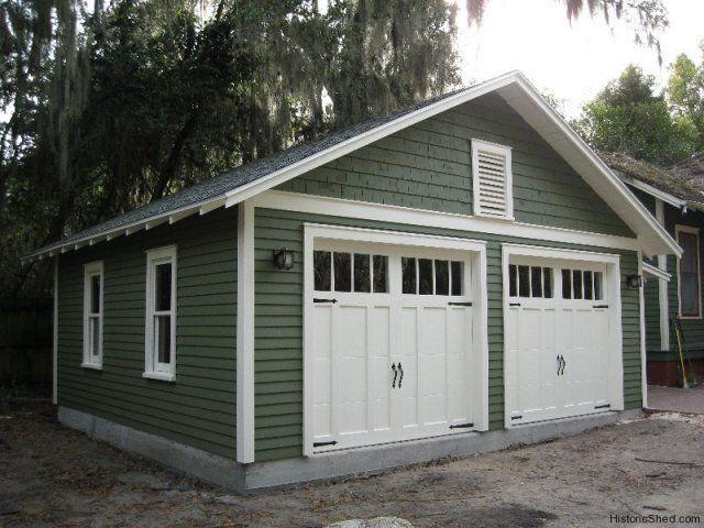Two Car Garages Historic Shed Garage Exterior Two Car Garage Garage Doors