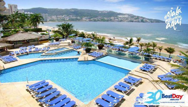El Copacabana Beach Hotel #Acapulco es una construcción de 18 pisos que domina una vista de la hermosa Bahía de Santa Lucía, ubicado en la Zona Dorada de #Acapulco. Es un hotel Todo Incluido, cuenta con 430 lujosas habitaciones, ofrece facilidades de negocios, playa, Internet inalámbrico en cortesía y es ideal para una escapada romántica. #OjalaEstuvierasAqui