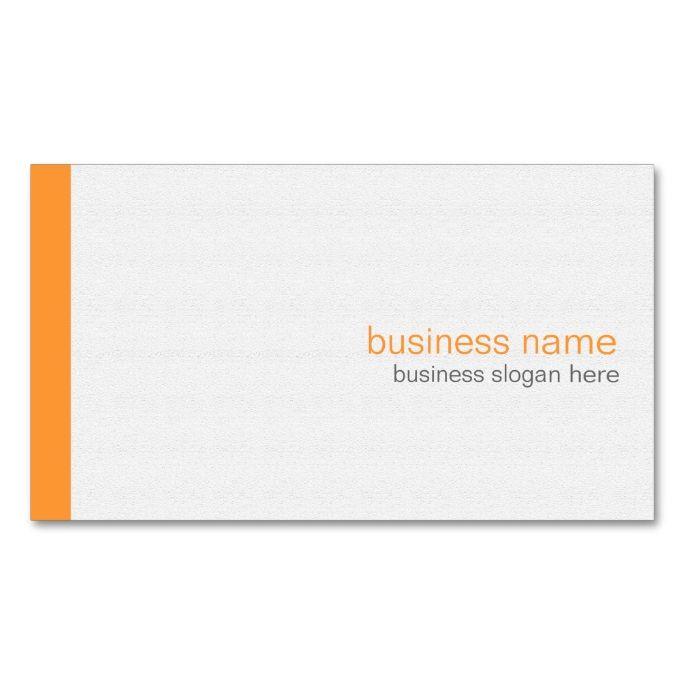 The 2155 best plain minimalist business card templates images on plain elegant modern simple orange stripe on white business card wajeb Choice Image