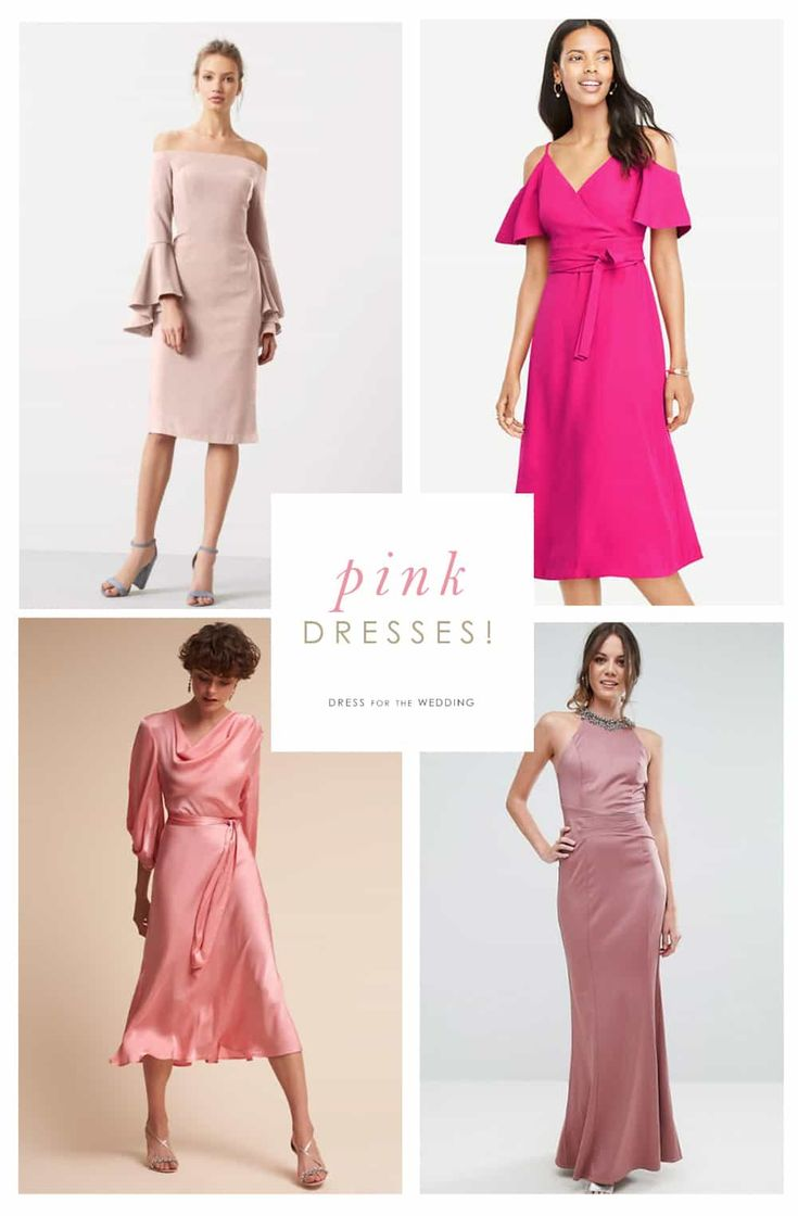 A Collection Of Pink Dresses For Wedding Guests Or Party Goers Cute